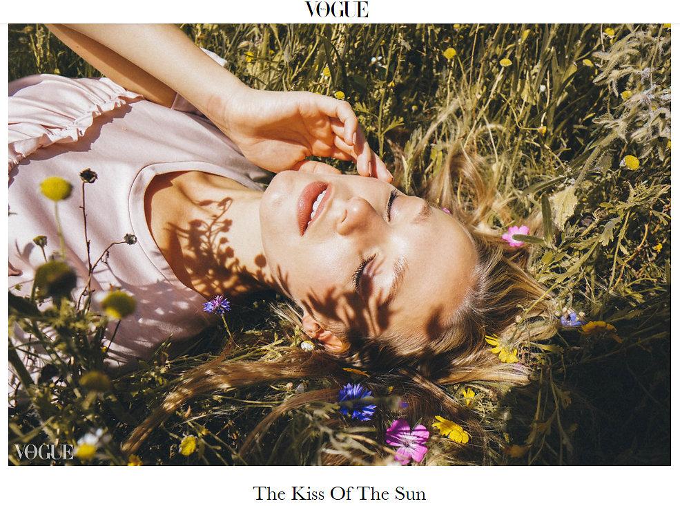 VOGUE ITALIA- THE KISS OF THE SUN