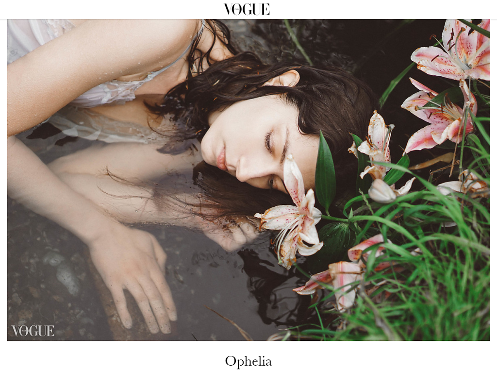 My work for VOGUE ITALIA- Opheli