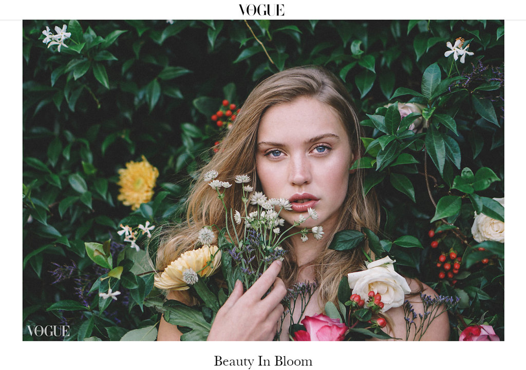 VOGUE ITALIA- Beauty In Bloom